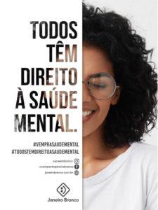 Janeiro Branco - Banner Camapanha Janeiro Branco - Todos tem direito à saúde mental!